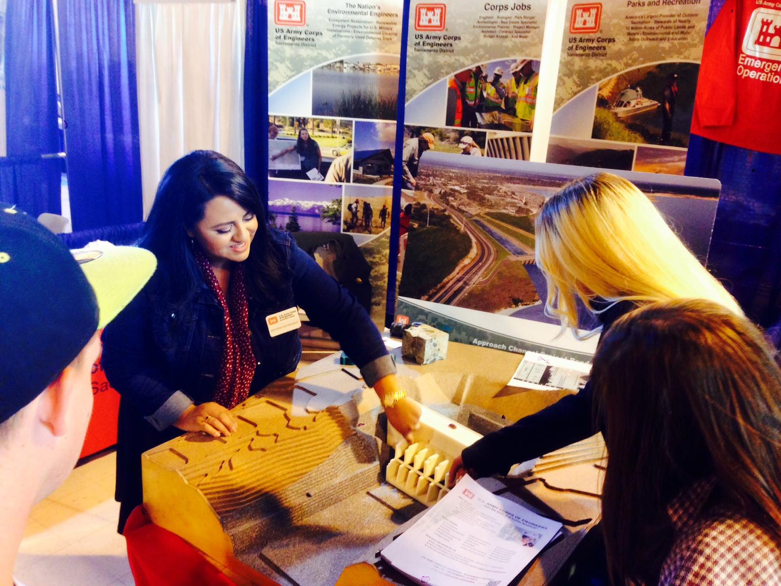 Arianna Raymundo talks jobs at GPS Career Fair