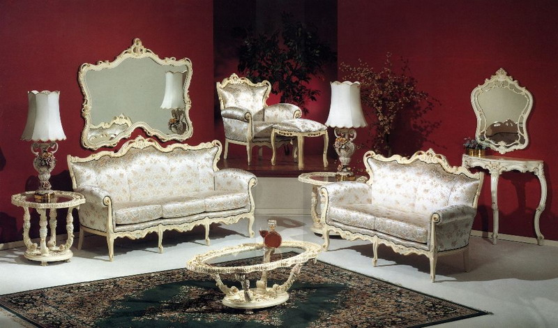 Elegant-Antique-White-Living-Room-Furniture-Design-Ideas